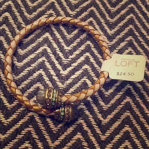 Ann Taylor Loft Bronze/Gold braided Bracelet